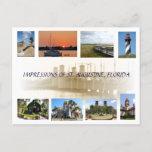 Impressions of St. Augustine, Florida Postcard