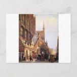 Cityhall in Lbeck by Cornelis Springer Postcard
