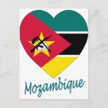 Mozambique Flag Heart Postcard