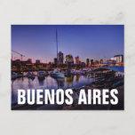 Canoas Al Atardecer - Canoes At Sunset Postcard