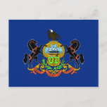 Pennsylvania Flag Postcard