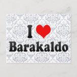 I Love Barakaldo, Spain Postcard