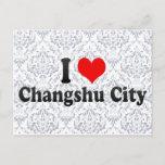 I Love Changshu City, China Postcard