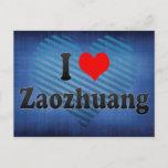 I Love Zaozhuang, China. Wo Ai Zaozhuang, China Postcard