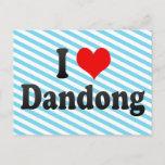 I Love Dandong, China. Wo Ai Dandong, China Postcard