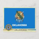Oklahoma State Flag and Seal Postcard