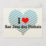I Love Sao Jose dos Pinhais, Brazil Postcard