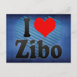 I Love Zibo, China. Wo Ai Zibo, China Postcard