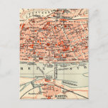Vintage Map of Mainz Germany (1905) Postcard