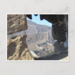 great wall glimpsed postcard