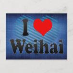 I Love Weihai, China. Wo Ai Weihai, China Postcard