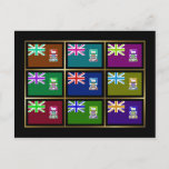 Falkland Islands Multihue Flags Postcard