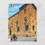 Vintage Spain,  Salamanca, House of Shells Postcard
