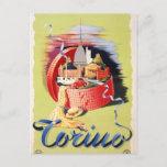 Torino Turin Italy Vintage Travel Poster Restored Postcard