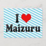 I Love Maizuru, Japan Postcard