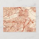 Vintage Boston Map Postcard
