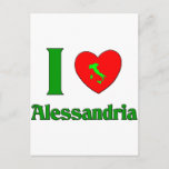 I Love Alessandria Italy Postcard