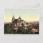 Cathedral and picture of Mary, Erfurt, Thuringia, Postcard