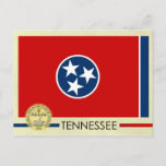Tennessee State Flag and Seal Postcard