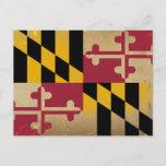 Maryland Flag VINTAGE.png Postcard