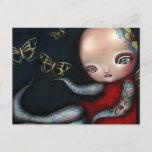 Jinxi Octopus Tattoo Girl Postcard