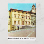 Vintage Italy,  Arezzo, Fraternity Palace Postcard
