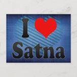 I Love Satna, India Postcard