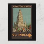 Visit India Budh Gaya Postcard