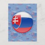 Slovakia Bubble Flag Postcard