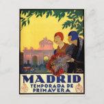 Madrid Temporada de Primavera - Vintage Art Poster Postcard