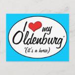 It's a Horse! I Love My Oldenburg Postcard