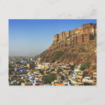 Cityscape of the Blue City with Meherangarh, the Postcard