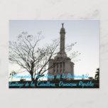 Monumento a los Héroes de la Restauración,Santiago Postcard