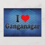 I Love Ganganagar, India Postcard