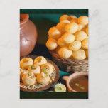 GOLE GAPPAY Panni Puri Indian Cuisine Snack Postcard