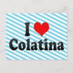 I Love Colatina, Brazil Postcard
