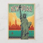 NYC - Lady Liberty Postcard