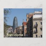 Carrer de Badajoz and Torre Agbar, Barcelona Postcard