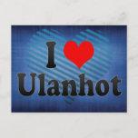 I Love Ulanhot, China Postcard