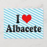 I Love Albacete, Spain Postcard