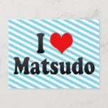 I Love Matsudo, Japan Postcard