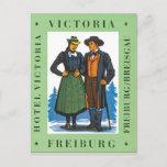 Hotel Victoria Freiburg Vintage Travel Poster Postcard
