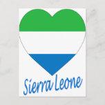 Sierra Leone Flag Heart Postcard