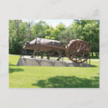 Ox and Redriver Cart Postcard