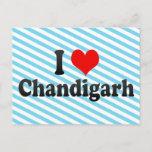 I Love Chandigarh, India Postcard