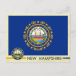 New Hampshire State Flag and Seal Postcard