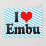 I Love Embu, Brazil Postcard