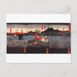 Kagesue, Takatsuna and Shigetada crossing the Uji Postcard