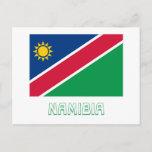 Namibia Flag with Name Postcard