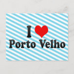 I Love Porto Velho, Brazil Postcard